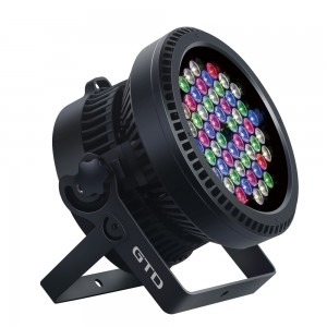 LED PAR LIGHT w/Zoom, LED 6W x54u,RGB three-in-one,  Beam angle: 15°-50° linear zoom, IP67