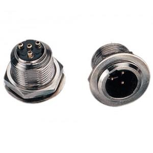 Conector mini XLR 3 pines (macho para chasis)