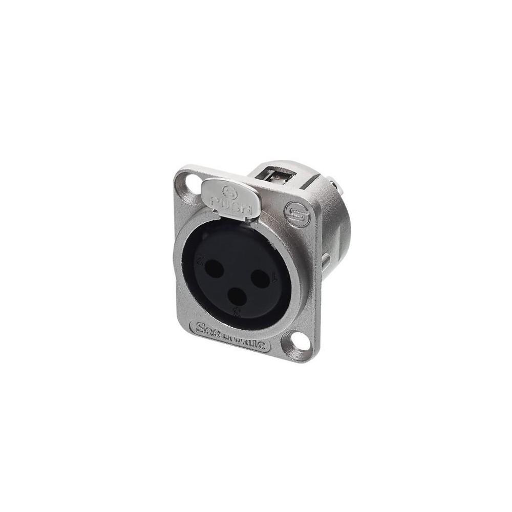 Seetronic J3f2c - Conector Xlr3 Macho Chasis Metal