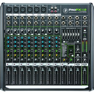 Mixer 12 Canales Mackie ProFX12 v2 - 6 XLR (c/Phantom) + 4 ST C/RCA, USB y S/Auriculares