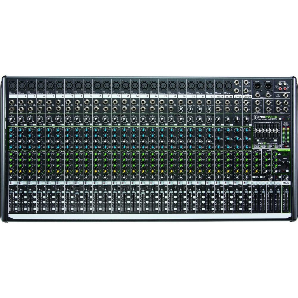 Mixer 30 Canales ProFX30v2 - 24 XLR (C/Phantom) + 4ST+ RCA IN/OUT y USB