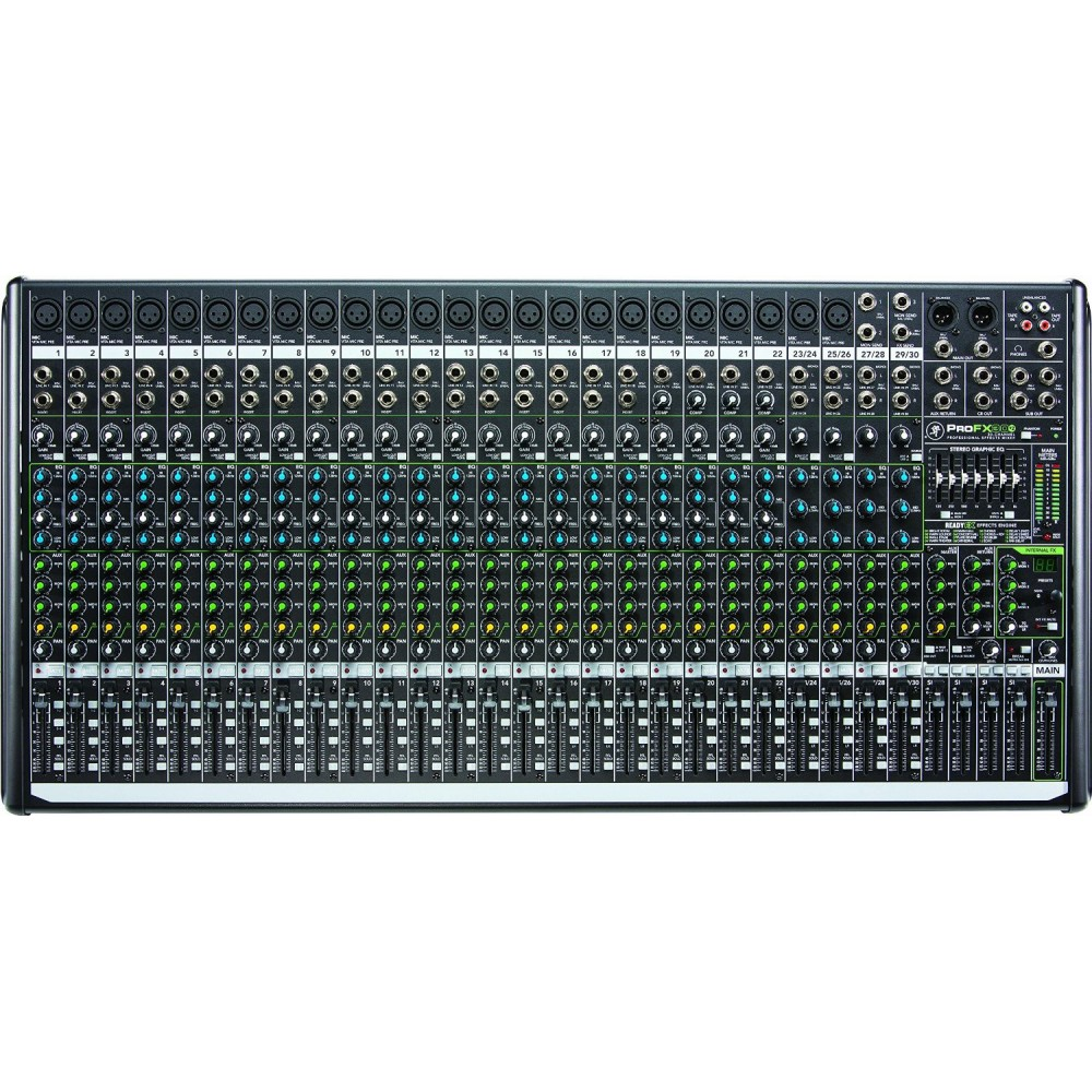 Mixer 30 Canales ProFX30v2 - 24 XLR (C/Phantom) + 4ST+ RCA IN/OUT y USB