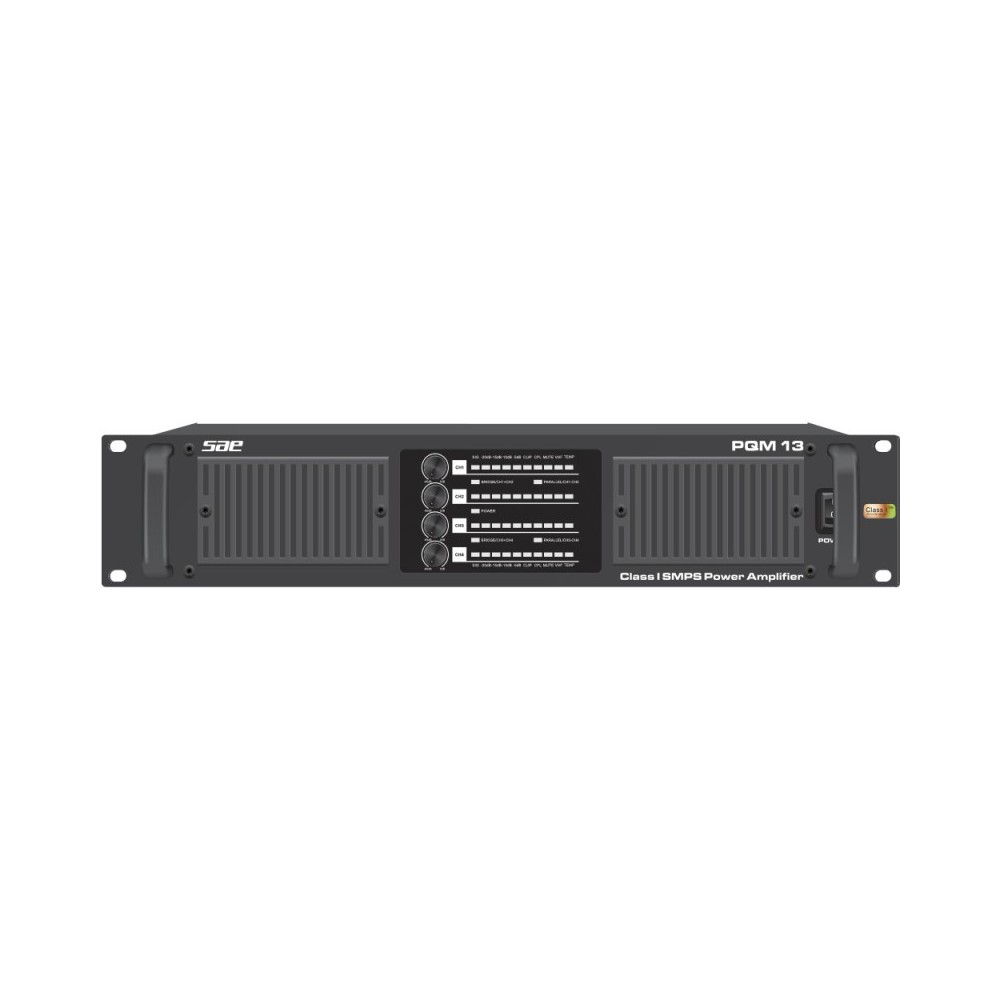 SAE Audio PQM13 Potencia SMPS 2100W X4/4O- 1300W X4/8O- 2500W X4/2O Clase I.