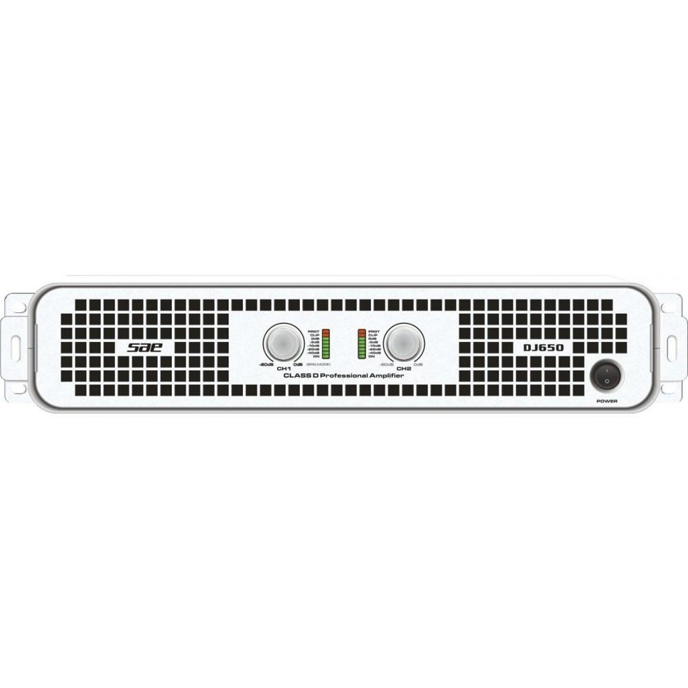 SAE Audio DJ 550 Potencia DJ, 800W X2/4O, 500W X2/8O, Clase D