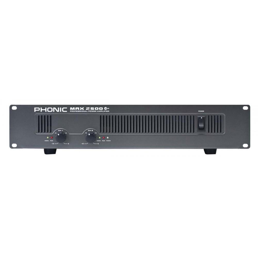 PHONIC MAX2500 Potencia 750W X2/4O - 500W X2/8O