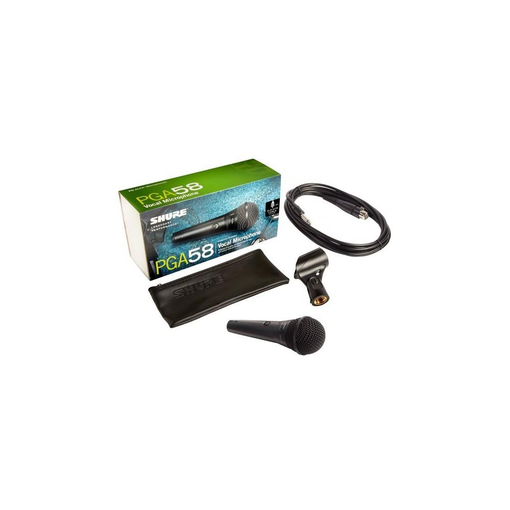 Shure PGA58-XLR Microfono Dinamico Cardiode para Voces con Swicht