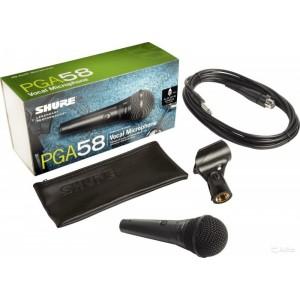 Shure PGA58-QTR Microfono Dinamico Cardiode para Voces con Swicht