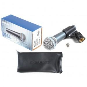 Shure BETA58A Micrófono Dinámico Supercardiode para Voces