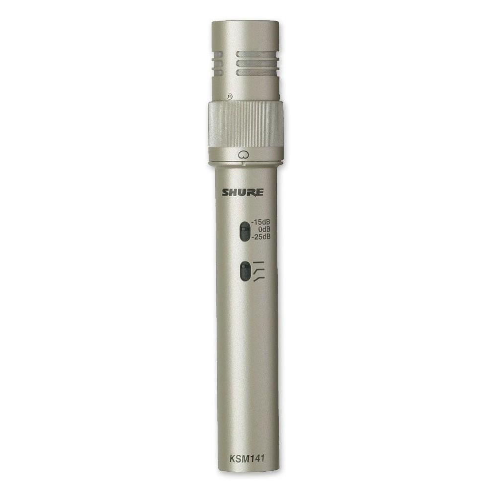 Shure KSM141/SL Micrófono Condenser con Selector Giratorio de Cardiode o Omnidirecional.