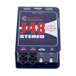 Radial J48 STEREO Caja Directa Activa
