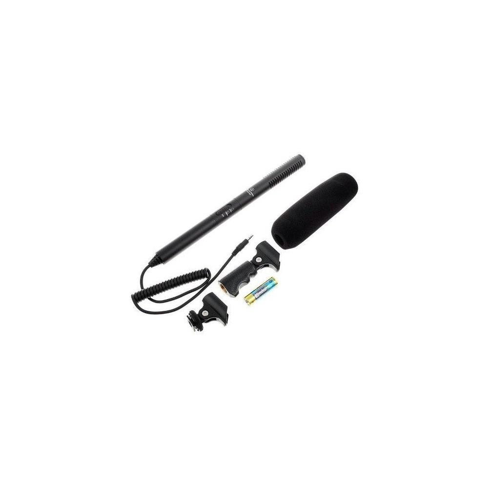 Audio Technica AT-ATR6550 Microfono Condenser Shotgun para Broadcasting